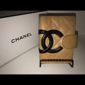 Chanel cambon CC quilted leather agenda cover